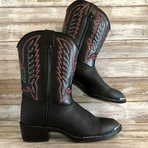 Durango Youth Black Pointed Toe Cowboy Boots